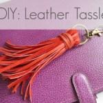 DIY Leather Tassel Key Fob/Bag Charm