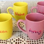 DIY Handpainted Mugs