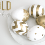 DIY Kate Spade Inspired Gold Eggs