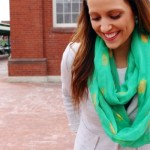 DIY Gold Foil Infinity Scarves