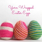 DIY Yarn Wrapped Easter Eggs