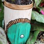 DIY Pirouline Tin Hobbit Hole Planter