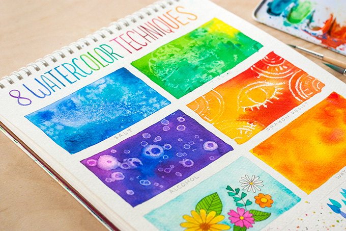 8 watercolor techniques for beginners indie crafts