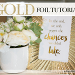 Gold Foil Printing Tutorial