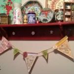 DIY Mixed Media Pennant Banner for Girls