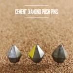 DIY Diamond Cement Push Pins
