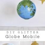 DIY Glitter Globe Mobile