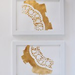 DIY Easy Gold Foil Doily Art