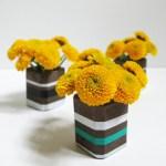 DIY Modern Cement Bud Vases