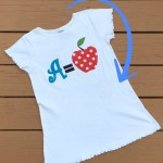 DIY Back To School Iron On/Appliqué A=Apple TShirt