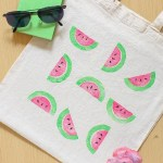 DIY Watermelon Print Bag