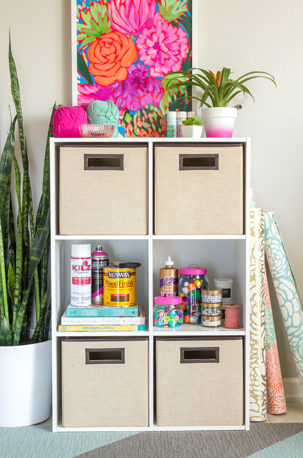 How to organize your craft room storage indie crafts Homemade craft storage ideas