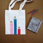DIY Painted Back to School Tote Bag