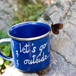 DIY enamel camping cup