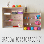 DIY Shadow Box Storage