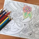 Free Paisley Adult Coloring Page