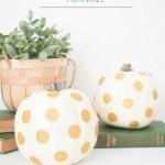 NO MESS Gold Glitter Polka Dot Pumpkins DIY