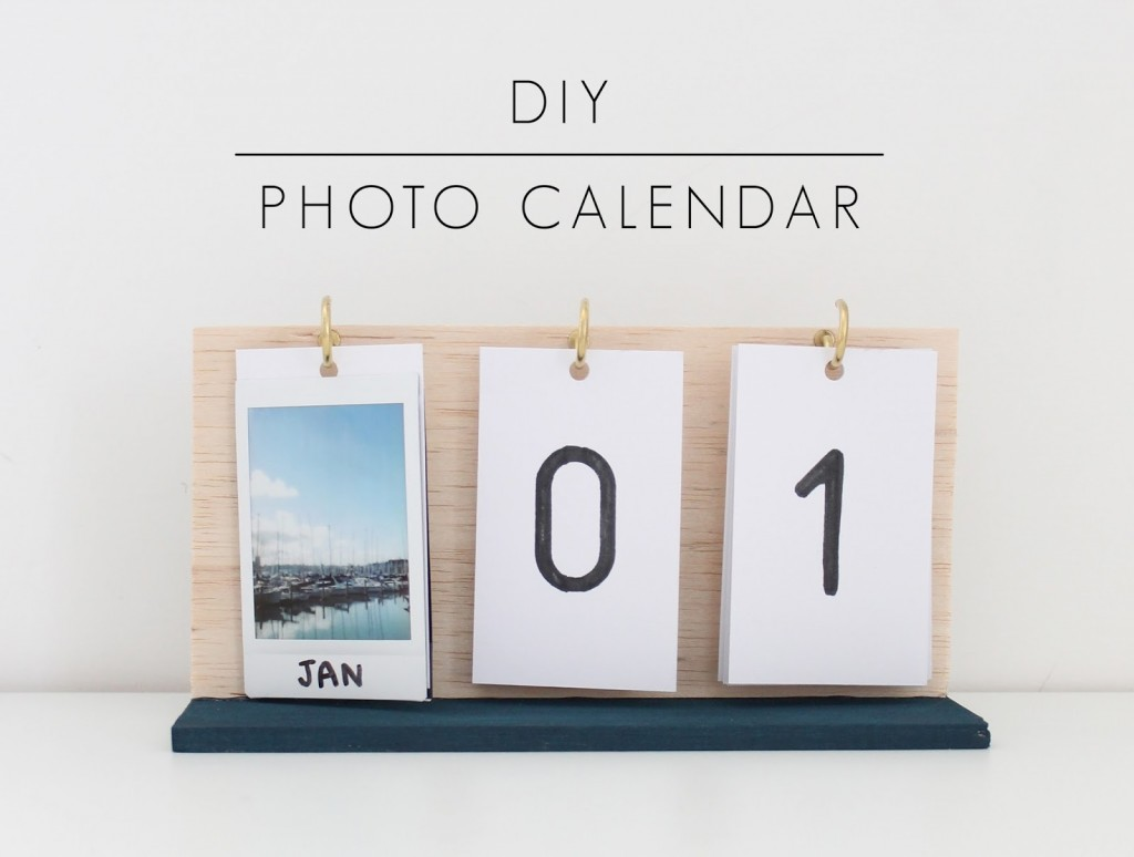 Desk Calendar Photography : Diy instax photo calendar indie crafts