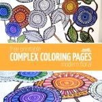 Free Printable Adult Coloring Pages – Modern Floral