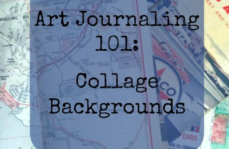 Making Collage Backgrounds for your Art Journal