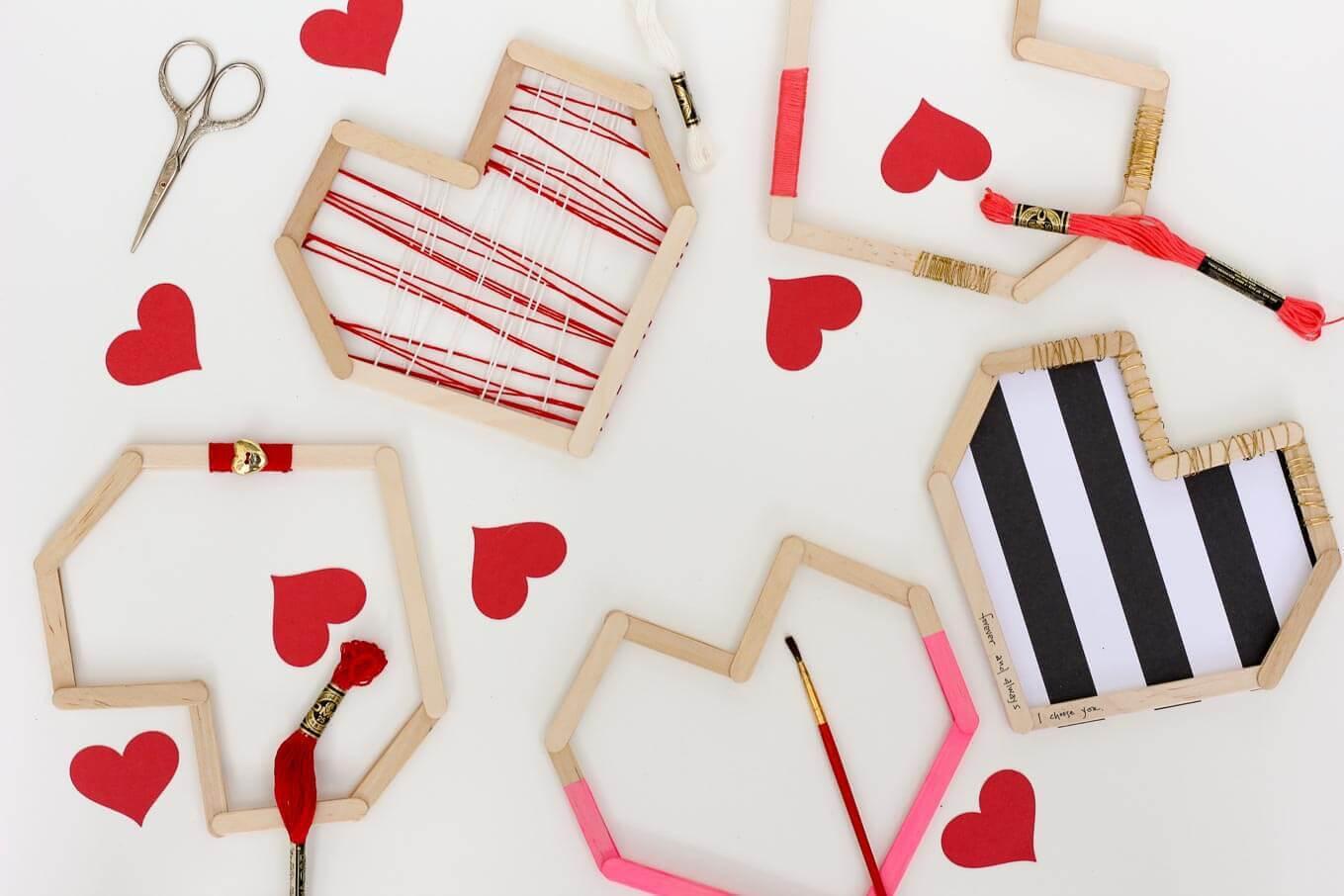 DIY Valentines From Popsicle Sticks – Indie Crafts