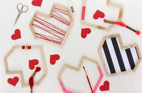DIY Valentines From Popsicle Sticks