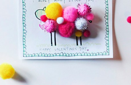 Free Valentine's Day printable- Just add Pom Poms!