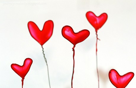 DIY Nail polish hearts
