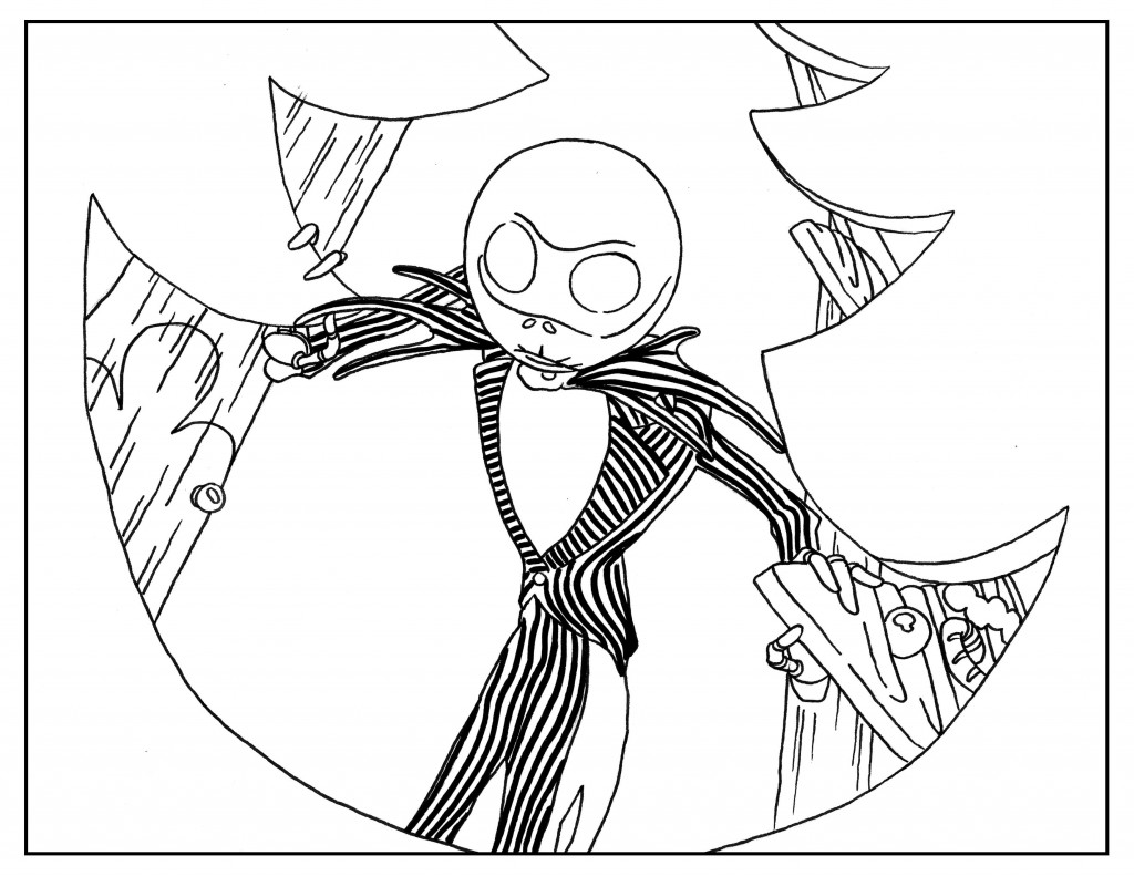8 free tim burton adult coloring book page printables for Tim burton coloring pages