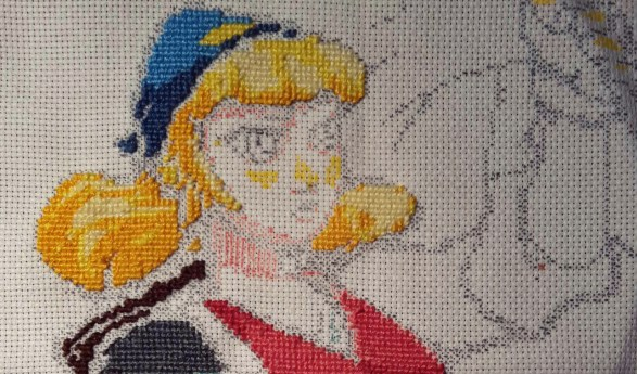 Necrodancer cross-stitch