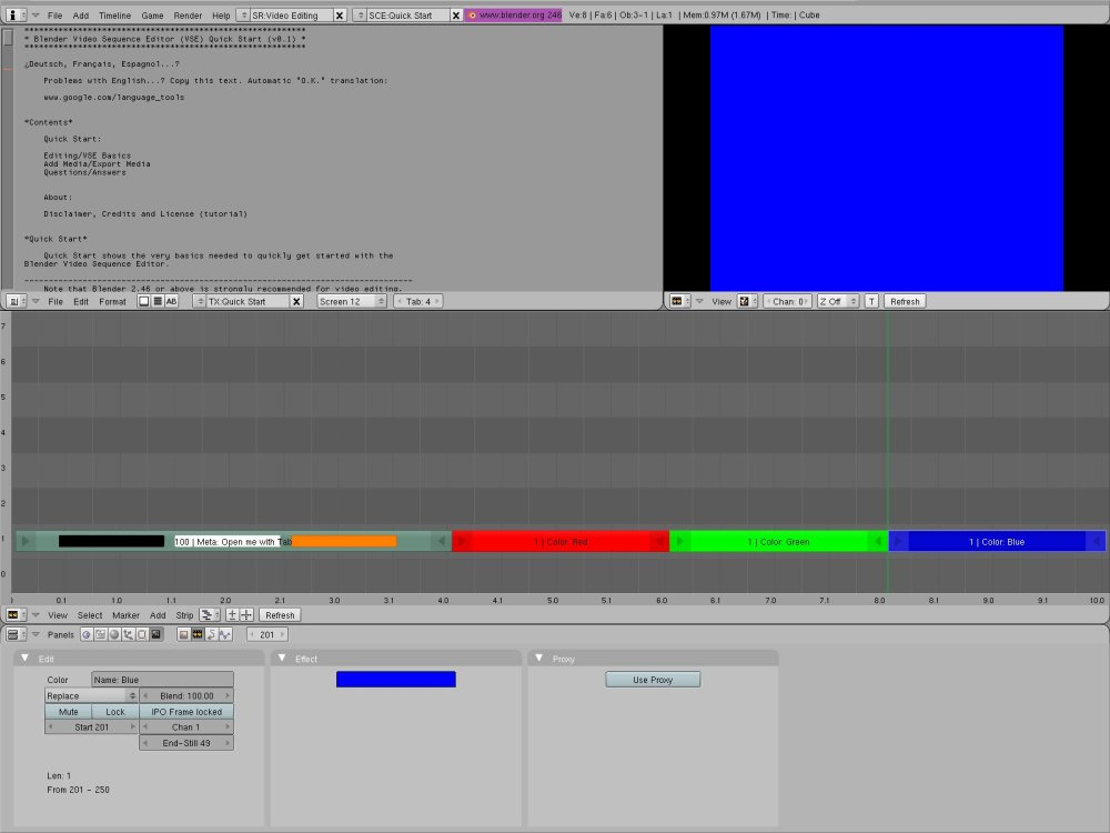 Blender Video Sequence Editor: Quick Start (1/3)