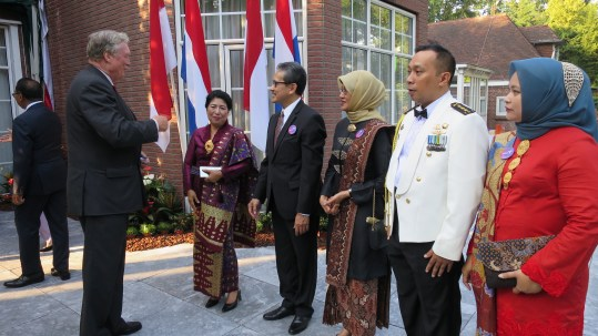 Ibu Puja, the cultural and military attache and spouses