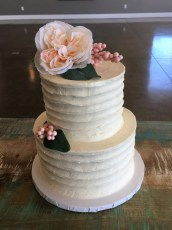 Simple and elegant wedding cake