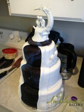 """Full of Stars"" Wedding Cake"