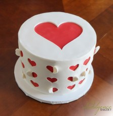 Heart Cut-out Cake