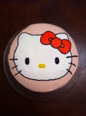 """Hello Kitty"" Buttercream Cake"