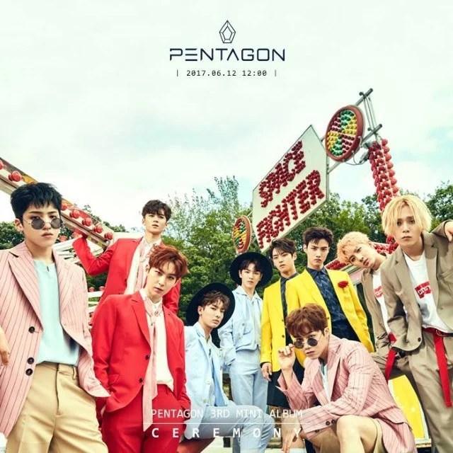 PENTAGON迷你專輯《CEREMONY》公開分組、團體概念照
