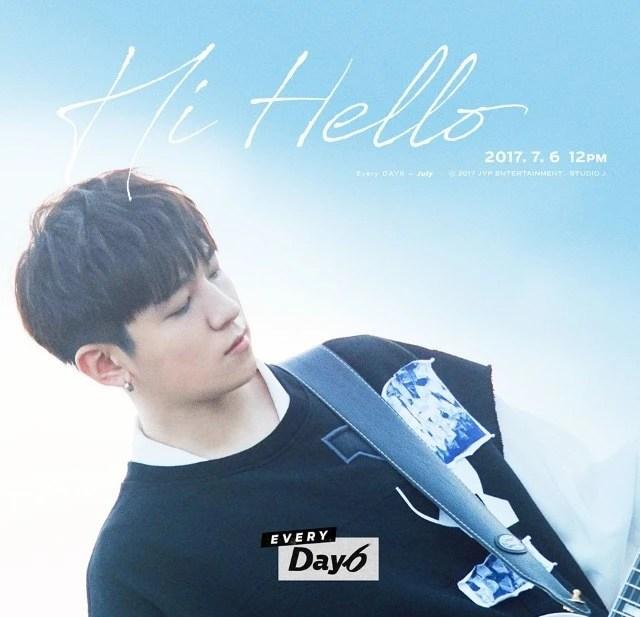 DAY6公開成員晟鎮、Jae的主打歌《Hi Hello》個人概念照