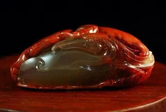 南紅瑪瑙玉石雕刻作品賞析