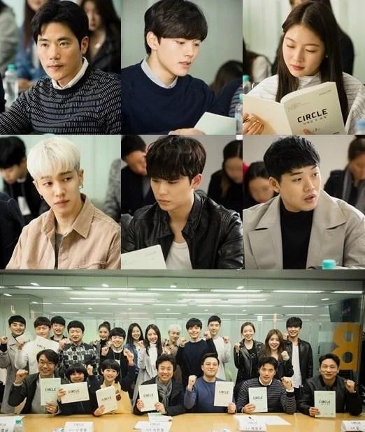 tvN全新月火劇《Circle:相連的兩個世界》公開劇本練習照