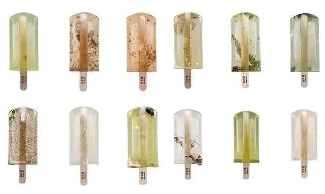 用100%污染水源做的冰棒,這些冰棒很美,但你敢吃嗎?