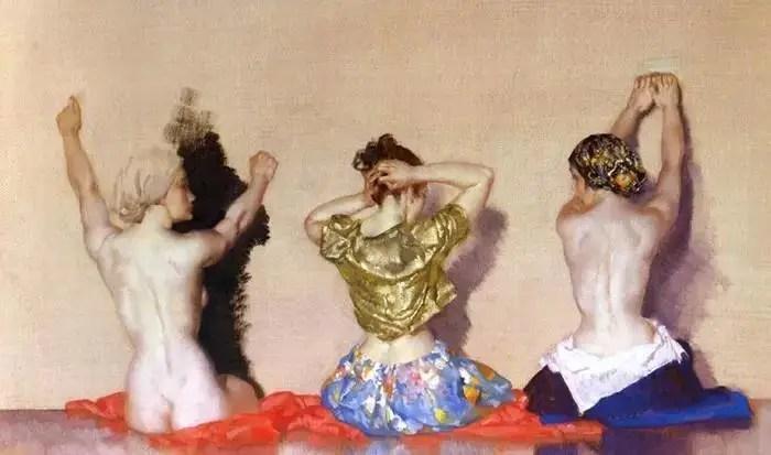 英國當代水彩畫家 William Russell Flint 作品