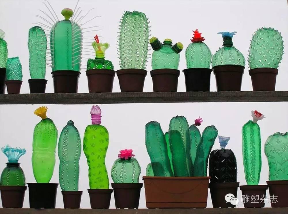 美麗的塑料瓶植物雕塑—Veronika Richterovaby