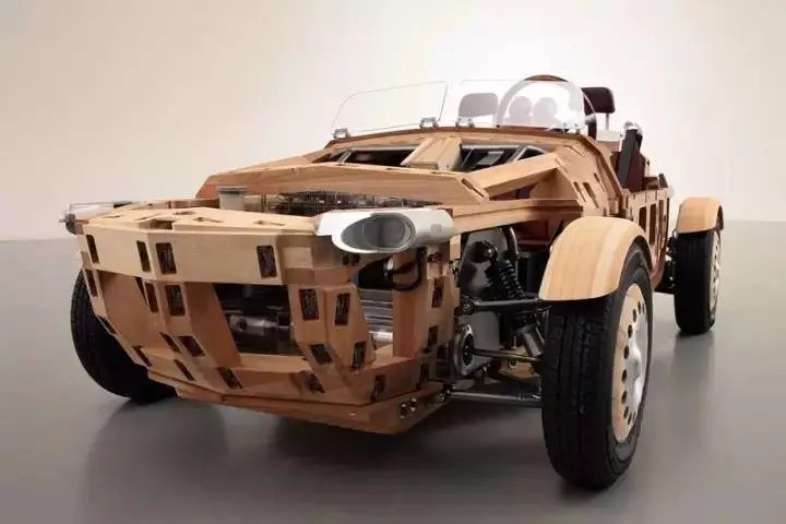 可以真正上路的木質電動車