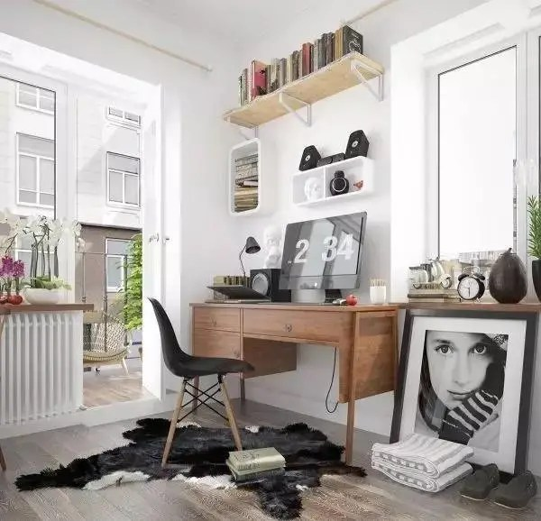 北歐風格家庭工作空間設計