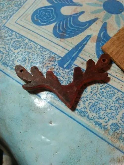 鹿甲掛墜印度小葉紫檀
