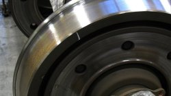 One of the SPRINTER's non-compliant brake rotors | Photo: Nicholas McVicker