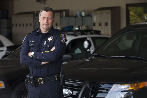 Eureka Police Chief Andrew Mills converted some of his holding cells within his police station to storage areas for confiscated marijuana. Dom DiFurio / News21