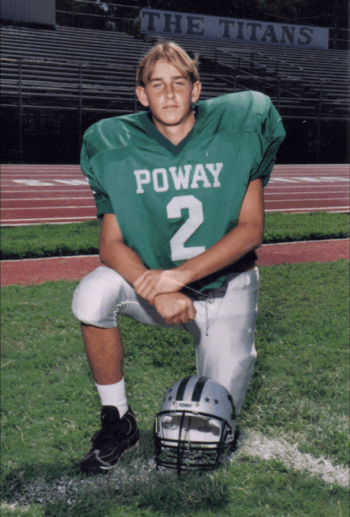 Aaron Rubin played football growing up, eventually earning a spot as a strong safety and linebacker at Poway High School. Courtesy Sherrie Rubin