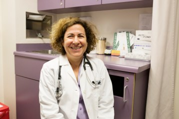 Linda Hill, director of preventive medicine residency at UCSD, in her Linda Vista clinic.